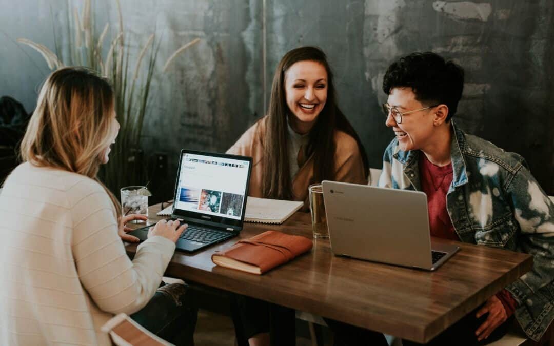 Group of colleagues at a conference table working
